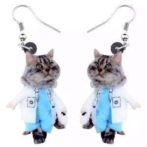 Cat Doctor 2D Acrylic Earrings